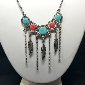 COSTUME JEWELRY CIRCLES AND FEATHERS